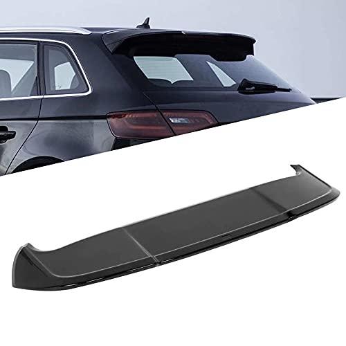 LIUJREN Spoiler de Techo Trasero, Negro Brillante para Estilo RS3 Ajuste para A3 8V Sportback 5 Puertas 2013-2020 Accesorios para automóviles