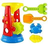 B Blesiya 5er-Set Sandkasten Spielzeug Set mit Sandmühle Eimer Rechen