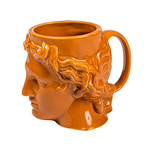 WHYX Tazas café Vaso Termico café Taza de cerámica con Cabeza de David, Taza de café, Tema Griego Antiguo, Taza de Desayuno, Jugo, Leche, Taza de Agua, hogar, Oficina, Tazas de Agua/decoración