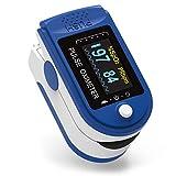 XDhope Pulsossimetro, Pulsossimetro da dito può monitorare la frequenza cardiaca e la SPO2 portatile, adatta per viaggi, esercizio fisico e famiglia