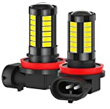 GCS Gcsheng 2 unids 1000lm High Bright LED Luces de Niebla LED H8 H11 6000K White H10 9005 9006 HB3 HB4 LED Coche Día de la luz DRL 12V (Socket Type : H16(JP))
