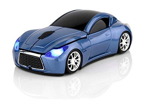 Klein Design FTD-MS127 Auto Style optische Maus/Mouse schnurlos/Wireless blau
