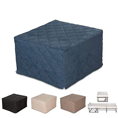 EvergreenWeb–Puf cama individual con colchón H 10cm- Suite col. AZUL–Cama individual Salvaspazio–Puff...
