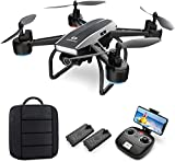 DEERC D50 Drone with Camera for Adults 2K Ultra HD FPV Live Video Adjustable Wide-Angle, RC Quadcopter with Altitude Hold, Headless Mode, Gesture Selfie, Waypoints Functions, 2 Batteries and Backpack