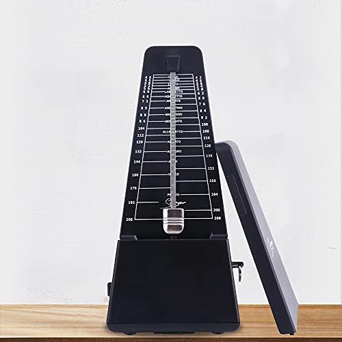 Metronome Mechanical Black Kids Children Beginner Mechanicals for Musical Instruments Piano Drum Violin Guitar (Color Black)