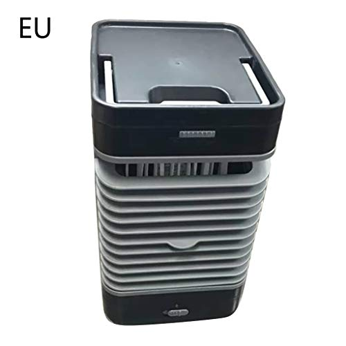 Mikiya 3-in-1 mini-USB-draagbare airconditioner, luchtbevochtiger, luchtreiniger, koeler, persoonlijke ventilator voor kantoor, huis, auto, oplaadbaar