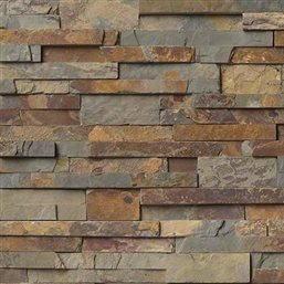 Gold Rush Slate Ledger Wall Panel 6 in. x 24 in. Natural Stone Tile - 30 pcs / 30 sqf