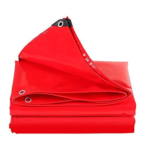 Bâche résistante, bâche imperméable réversible, Tapis de Sol et Couverture de Camion, Tente UV d'ombrage for Le Camping de Bateau de Voiture, Rouge (Size : 3m×4m)