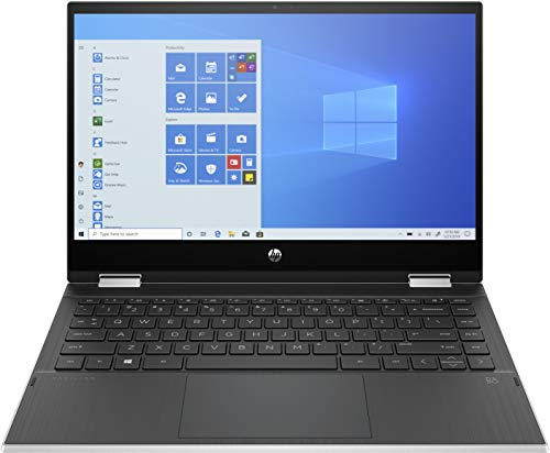 HP Pavilion x360 14-dw1234ng (14 Zoll / FHD IPS Touch) 2in1 Convertible (Intel Core i3-1115G4, 8GB DDR4 RAM, 512GB SSD, Intel UHD Grafik, Windows 10) silber