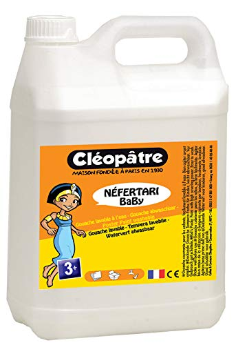 Cléopâtre - PGBB5-1 - Peinture Gouache Néfertari Baby - Blanc - Bidon 5 L