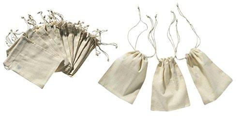 ETHAHE Lot de 24 Pochettes Sachets en Coton avec Cordon de Serrage 10x15cm