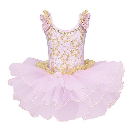 ZNYUNE Nia Tutu Vestido de Ballet Danza Clsico 204 Encaje Rosa L para 4-5 aos