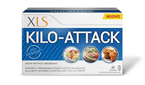 Xls Kilo-Attack a Base di Carbolyte Integratore Alimentare che Supporta i Programmi di Perdita di Peso, Ottimale Anche per Pasti Abbondanti, 30 Compresse