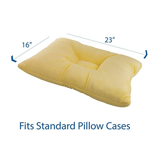 """Roscoe Medical-PP3135 Memory Foam Cervical Pillow and Neck Pillow For Sleeping - Indented Contour Pillow for Sleeping on Back or Side - 16"""" x 23"""", Firm"""