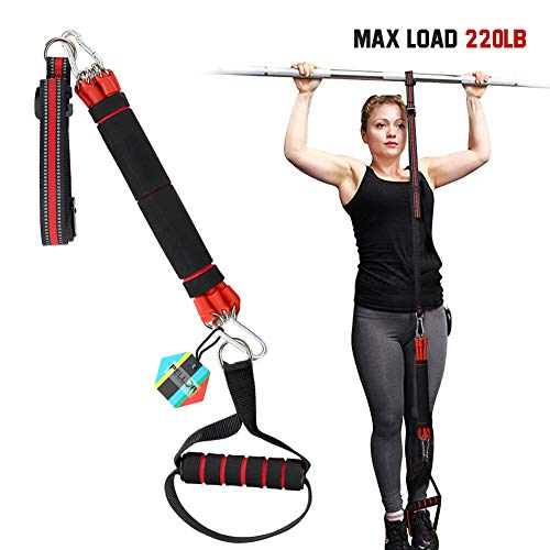 Pull-Up Assist Band Premium Powerlifting Stretch Resistance Bands with Fitness Resistance Band to Improve Arm, Shoulders and Chest Strength (Black)