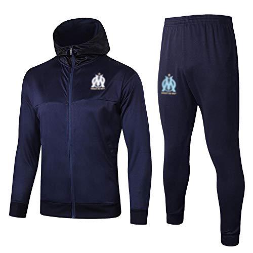 MVNTOO Club de fútbol Europeo, Camiseta de fútbol para Hombre, Camiseta de Entrenamiento Hecha por Aficionados.122-azul_S