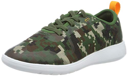 Clarks Jungen Scape Soar K Sneaker, Mehrfarbig (Olive Camo), 34 EU