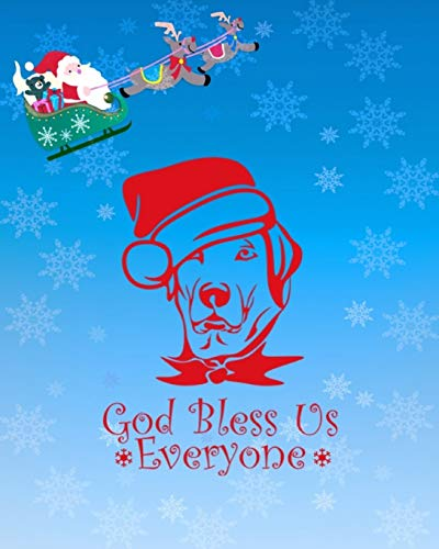 God Bless Us Everyone: Christmas Kids 30 Day Countdown Journal Notebook to help your excited kids write their feeling and draw how they are feeling in Anticipation for the Holiday season.