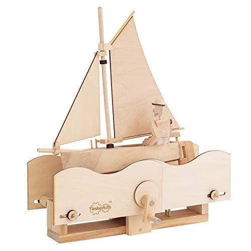 TIMBERKITS Salty Sailor Automata Mechanisches Holzpuzzle-Modellbausatz, Holz
