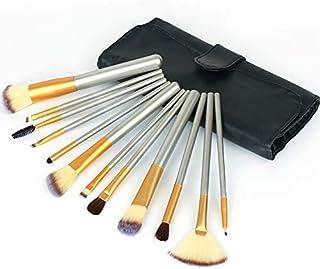 メイクブラシセット 12本 プロ 高級 化粧筆 柔らかい 化粧ブラシ フェイスブラシ コスメブラシ MANLI 専用ポーチ付