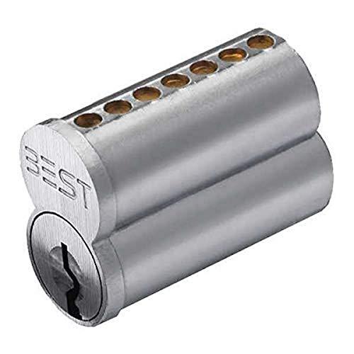 Stanley Best 1C7G1626 Best 1C 7 Pin Núcleo sin combinar, G Keyway, cromo satinado