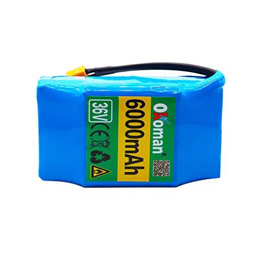 Batería de Hoverboard 36V 6000mah de Alto Consumo de energía Scooter eléctrico de 2 Ruedas autoequilibrado 18650 batería de Litio