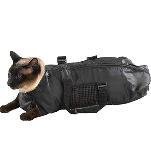 #N/A JIUZUI Katzenpflegetasche, Hundebadtasche und KOSTENLOSE Katzenmaulkorb mit Reißverschluss Griff Reinigungsbedarf für Haustiere 50 * 15 * 13 cm