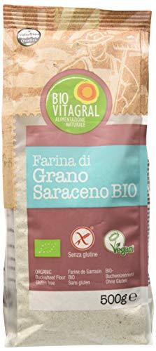 Biovitagral Farina di Grano Saraceno - 12 Confezioni da 500 g, Totale: 6 kg