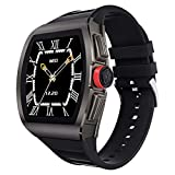 Full Touch Smartwatch with IP68 Waterproof,Fitness Tracker Watch with Pedometer Heart Rate Blood Pressure Monitor Sleep Tracker,Music Control,Remote Camera,Black