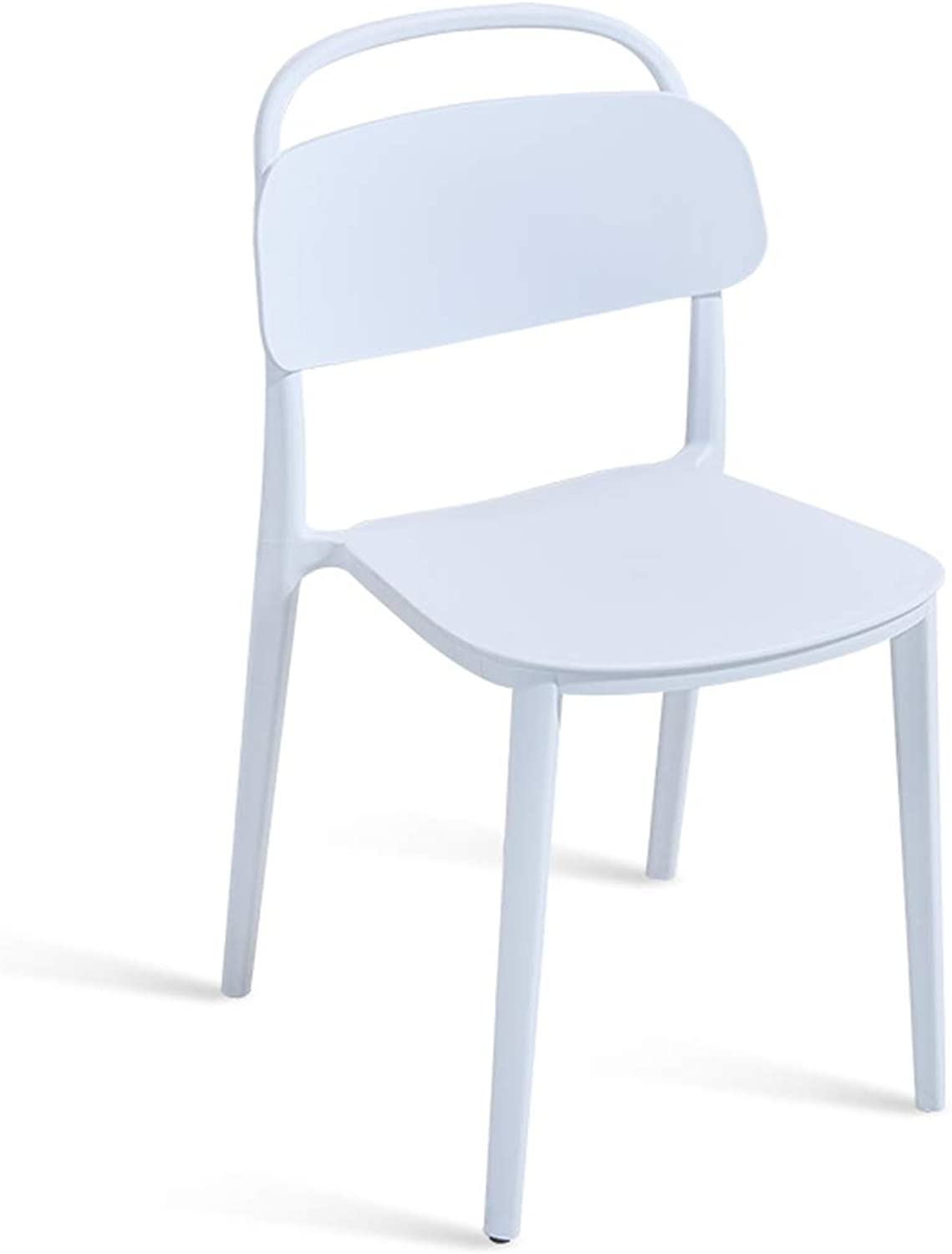 LRW Modern Nordic Dining Chair, Home Creative Plastic Chair Restaurant, Leisure Backrest Stool, White