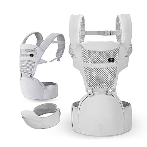 Jumblebee Baby Carrier Hip seat - Ergonomic Baby Carrier Backpack with seat and Back Support for Newborn to Toddler