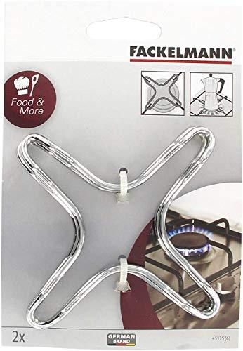 Fackelmann 2 Herdplatten mit Gasring, Flammenreduzierung, Simmerpfannen, Töpfe, Kaffeemaschinen
