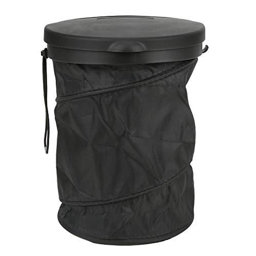 Bicaquu Umweltfreundlich mit Haken Langlebiger Abfallbehälter, Autoabfallkorb aus Polyester, für Reisen im Freien zu Hause Camping