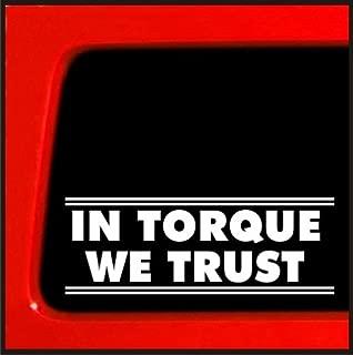 in Torque We Trust - Sticker/Decal for Cummins Duramax Smoke CAT Vinyl Sticker Decal