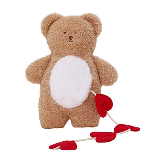 Eternitry Juguete del animal doméstico del oso de la felpa, sonido del amor del bolsillo, juguete del oso de la comida oculta, dormir bien, exportación del juguete del perro