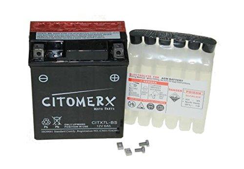 wartungsfreie Batterie 12 V 6 Ah für Roller und Moped