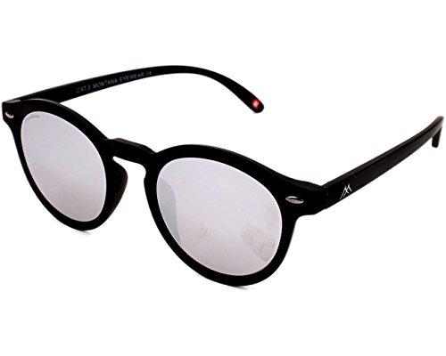 Montana MS28 gafas de sol, Multicolor (Black + Revo silver mirror), Talla única Unisex Adulto
