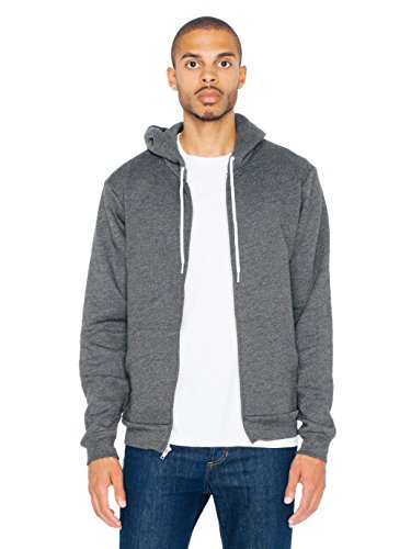 American Apparel Unisex Flex Fleece-Kapuzenpulli F497 - Dark Heather Grey - M