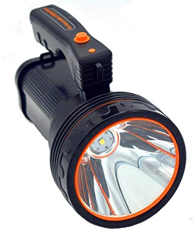 SLLM Wiederaufladbare LED-Taschenlaterne der hohen Leistung mit 7000 Lumen Superheller wasserdichter IPX4-Handscheinwerfer im Freien Taschenlampe Tragbarer LED-Suchscheinwerfer