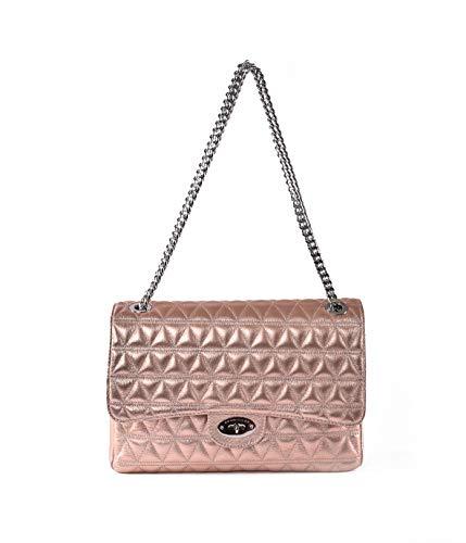 Marc Ellis Damen-Handtasche aus Kupfer, gesteppt