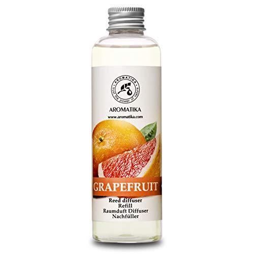 Raumduft Nachfüllflasche Grapefruit 200ml - Intensiv und Langanhaltend Natürlicher Raumduft - 0% Alkohol - Nachfüller zum Büro - Boutique - Restaurant - Aromatherapie - von Aromatika