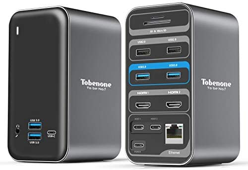 USB C Docking Station Dual Monitor for MacBook Pro 15 in 1 USB C Laptop Docking Station Dual product image