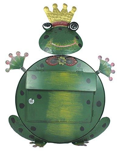 Briefkasten Frosch Kermit handbemalt Briekasten Froschkönig Metall Postkasten grün