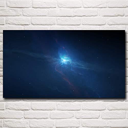 N / A Rahmenlose Malerei Cosmic Star Pluto Space Art Seidenplakatdekoration66X120cm