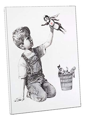 """Game Changer Super Hero Krankenschwestern Banksy Bild Gemälde Druck auf gerahmter Leinwand Wandkunst Heimdekoration, Stoff-Leinwand, 24'' x 16"""" inch( 60x 40 cm ) -18mm depth"""
