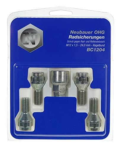 BC1204 Raddiebstahlsicherungsbolzen M12x1,5, Kegelsitz, Schaftlänge 24,0mm, Schlüsselweite 17mm /19mm