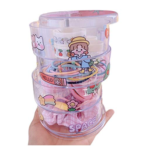 LTCTL Cajas De Joyería Acrílica Caja De Almacenamiento De Joyería Transparente con Pegatinas De Bricolaje Bandeja De Almacenamiento De