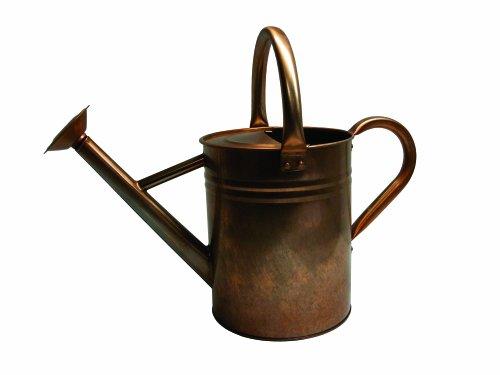 Gardman 8333 Antique Copper Finish Galvanized Steel Watering Can, 1.9-Gallon