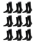 FALKE Herren Family Socken Strümpfe 14645 9er Pack, Sockengröße:43-46;Artikel:14645-3000 black
