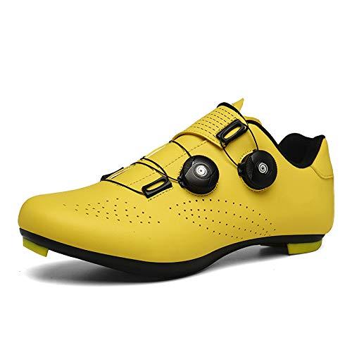 ququer 2021 Nuevas Zapatillas de Bicicleta de montaña SPD Antideslizantes y Transpirables para Primavera y Verano, Zapatillas de Ciclismo para Hombre, Zapatillas de MTB competición